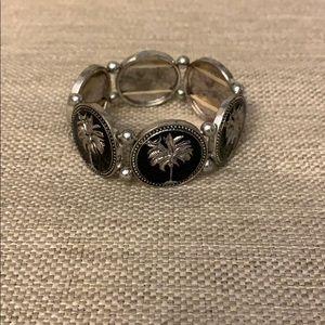 Jewelry - Palmetto tree and moon bracelet